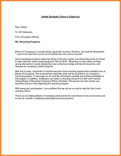 sample memo letter  employee letters  sample letters
