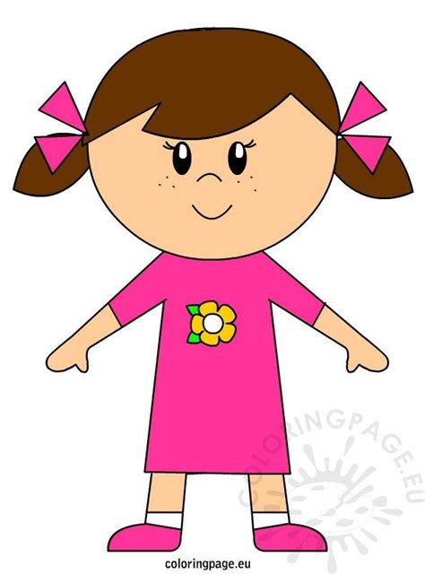 girl clipart  coloring page