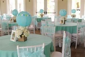 décoration de baptême pour garçon montgolfière centre de ...