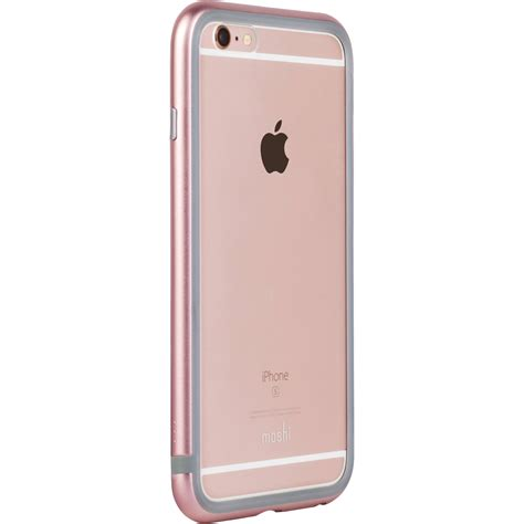 iphone 6 metal pink moshi iglaze luxe metal bumper for iphone 6 6s 99mo079302