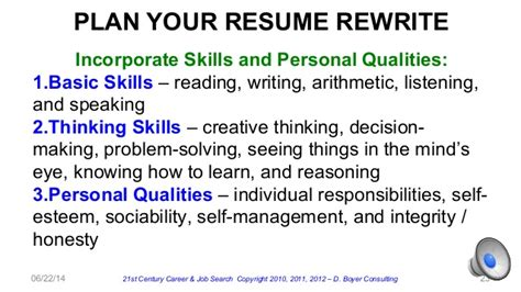 bad qualities to put on a resume personal qualities resume