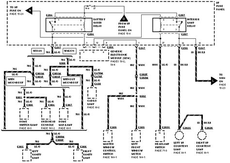 2004 Ford Tauru Se Wiring Diagram by Ford Taurus 96 The Power Windows And The Power Door Lock