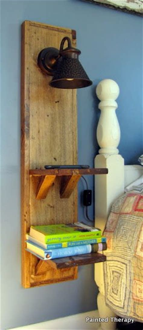wall mounted bedside table ideas  pinterest