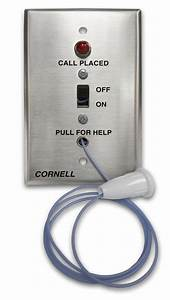 Pull Cord Nurse Emergency Call System With Led Call Placed Light