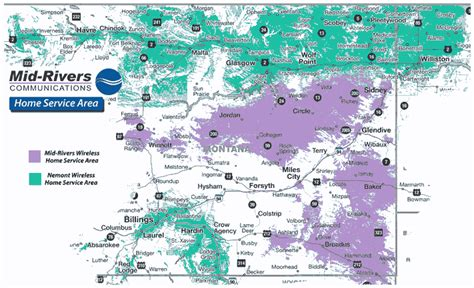 Cellular Maps.com-Mid-Rivers & Nemont Wireless Coverage Map