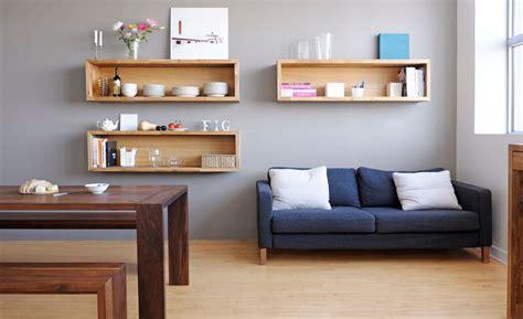 livingroom shelves wall mounted box shelves a trendy variation on open shelves