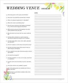 sle wedding checklist 6 documents in word pdf - Wedding Venue Checklist