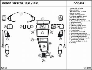 Dash Trim Kit For Dodge Stealth 91
