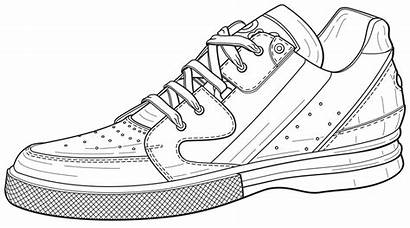 Tennis Shoe Shoes Pages Illustration Template Coloring