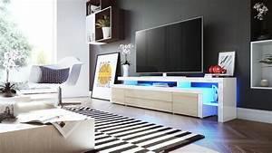 Fernsehtisch Weiß Hochglanz : tv lowboard board schrank fernsehtisch leon v3 in wei hochglanz naturt ne ebay ~ Yasmunasinghe.com Haus und Dekorationen