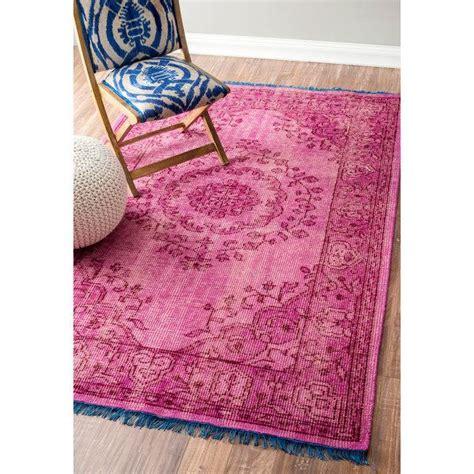 blue and pink rug rug pottery barn