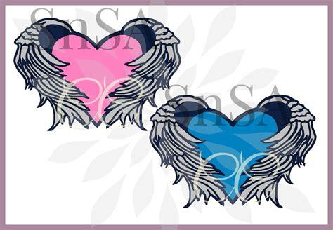 Angel Wings Svg Life Heart Heaven Rip Baby God Memory Harley