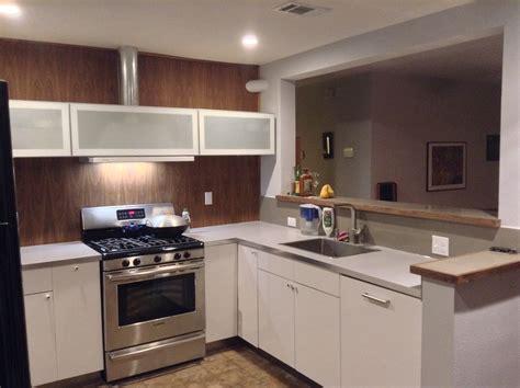ikea kitchen install floor paneling countertops
