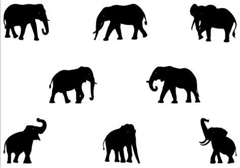elephant silhouette vector silhouettevectornet