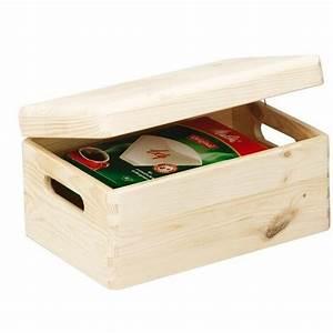 Petite Boite En Bois : petite boite avec couvercle en bois massif de pin zeller 13150 ~ Teatrodelosmanantiales.com Idées de Décoration