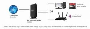Netgear Cm600 Docsis 3 0 24x8 High Speed Cable Modem