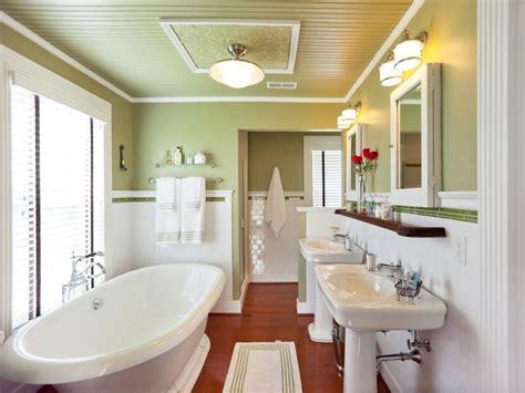 great green bathrooms hgtv