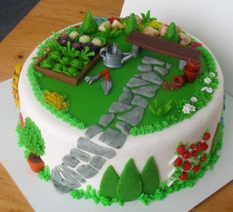garden cake  pinterest garden cakes gardening