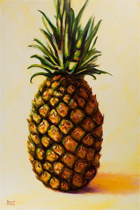 Pineapple Angel Painting by Shannon Grissom