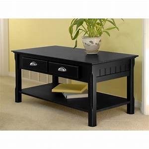 shop winsome wood timber black rectangular coffee table at With dark wood rectangular coffee table