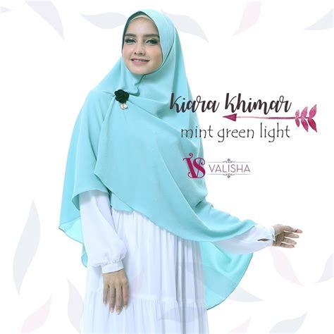valisha kiara khimar mint green light hijab kerudung khimar jilbab syari untukmu yg cantik