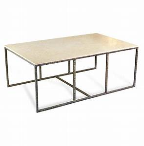 pax modern contemporary ivory cream marble and iron coffee With ivory marble coffee table