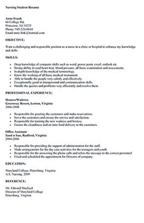 nursing student resume clinical experience search