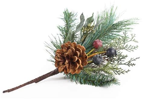12 quot artificial holiday greenery berries and pine cone