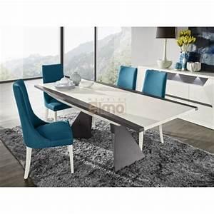 table salle a manger contemporaine extensible laque et With meuble salle À manger avec table a manger extensible