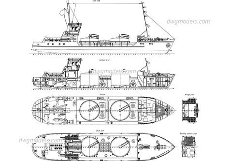 detailed drawing of tanker ship dwg free cad drawing