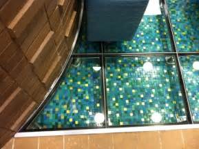 hand crafted glass floor   water