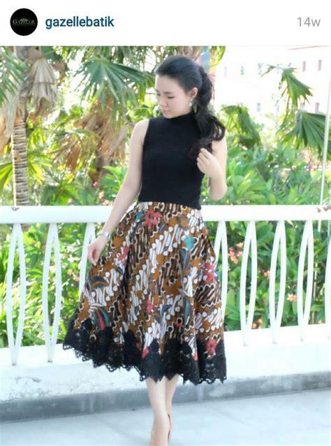 pin  agnes setiawaty  batik dress batik kombinasi
