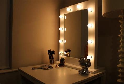 Simple Bedroom With Vanity Mirror Light Bulbs, And Hello