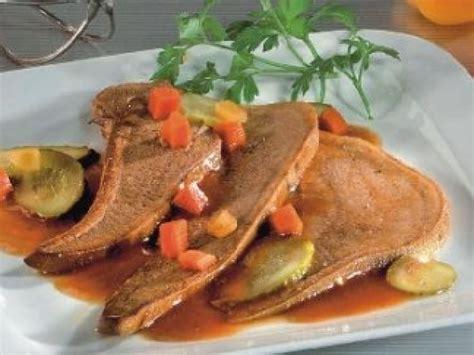 marmiton cuisine langue de boeuf sauce aux cornichons recette de langue