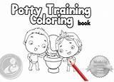 Potty Training Toilet Coloring Boys Amazon Camila Volume Books Apps Echavarria sketch template