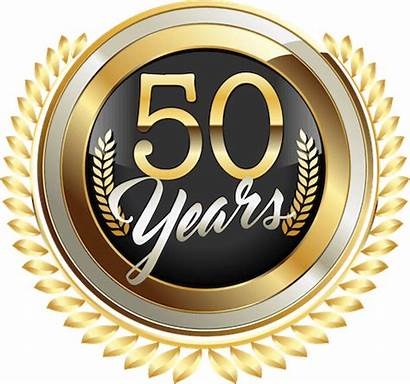 50th Anniversary Serving Badge Service Golden Fence