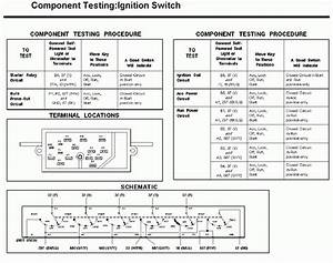 Ignition Switch Test Diagram Required