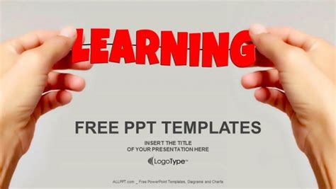 Powerpoint Template For Education by And Word Learning Powerpoint Templates