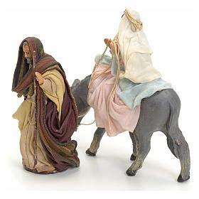 neapolitan nativity figurines joseph  pregnant mary