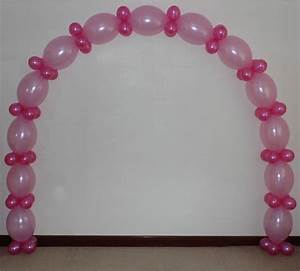 PINK LINK BALLOON ARCH FLOOR DECORATION -HELIUM OR AIR