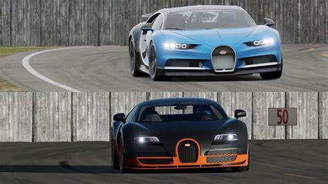 Bugatti Chiron Vs Veyron On Top Gear Track!!!
