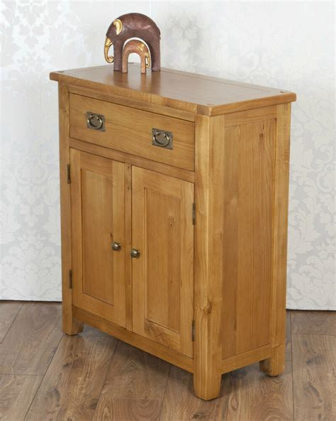Slim Oak Sideboard by Solid Rustic Oak Slim Cartmel 2 Door 1 Drawer Sideboard