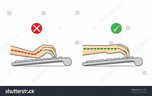 Guide Correct Hand Position Arm Use Stock Vector 359312504