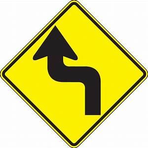 Left Reverse Turn Direction Sign Frw284