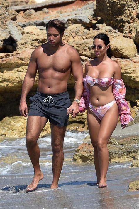 Yazmin Oukhellou looks amazing in a floral print bikini ...