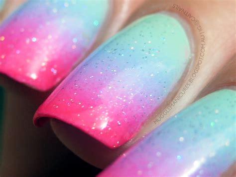 Pastel Gradient With Neon Tips