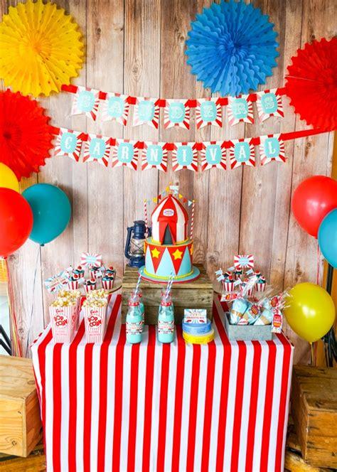 Carnival Birthday Checklist 23 Carnival Ideas Pretty My