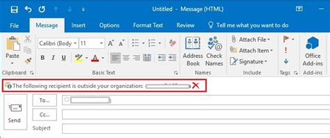 How To Have Outlook Insert [external}, Or Other