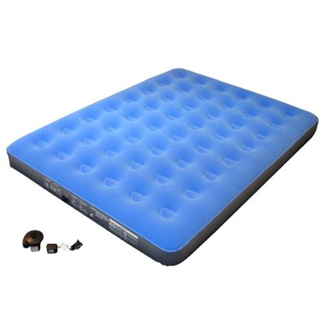 Embark Air Bed by Embark Flocked Airbed With Blue Airbed And