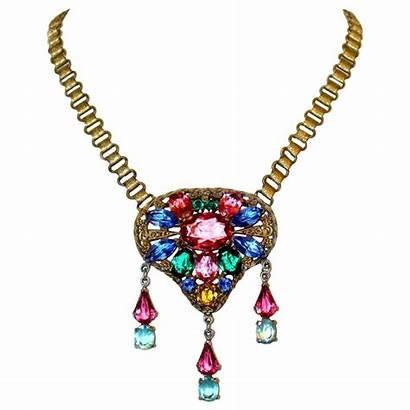 Pendant Czech Bookchain Necklace Glass Necklaces Jeweled